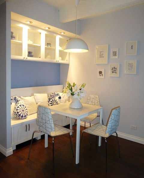 City Chic Man Cave - Modern Dining Nook -Remodel - custom built ...