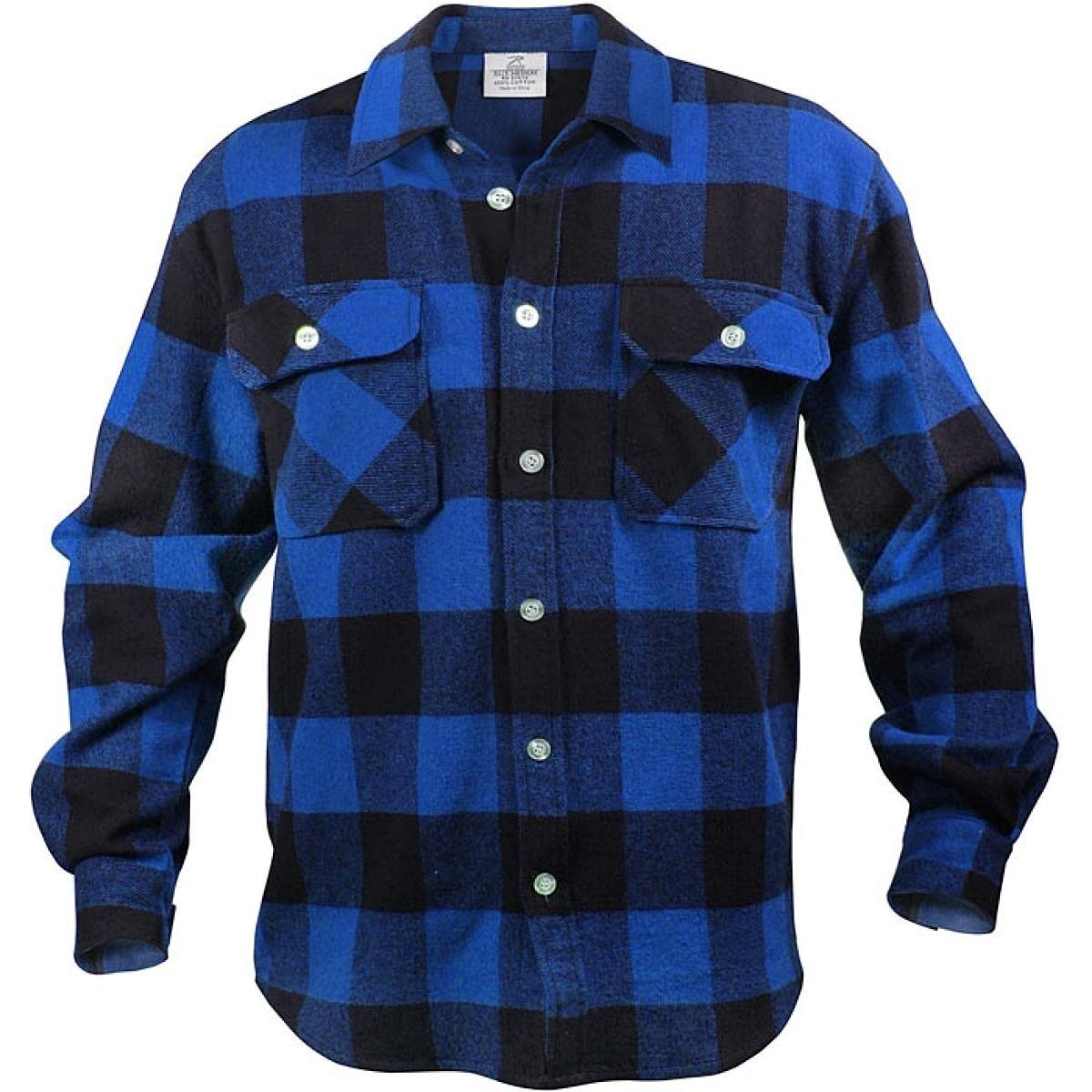 Flannel shirt season  Extra Heavyweight Brawny Flannel Shirt Buffalo Plaid in