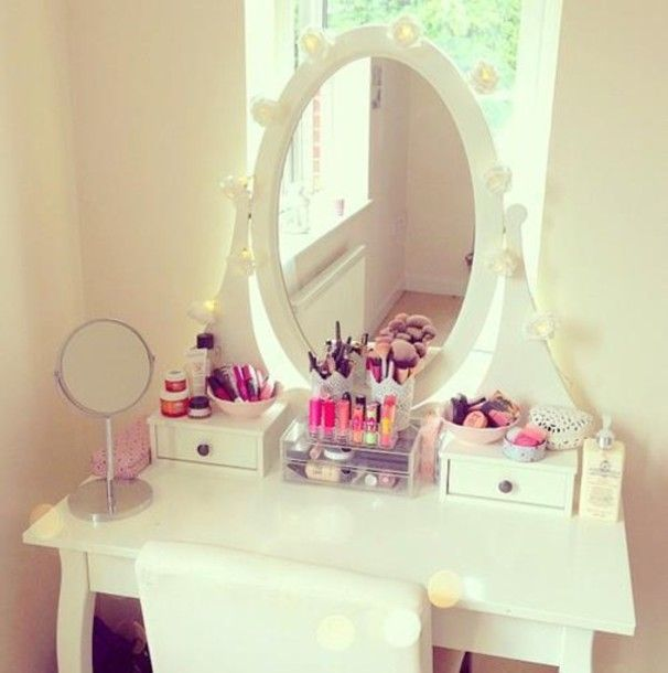 Ikea Dressing Table Vanity, Ikea Dressing Table With Mirror And Lights