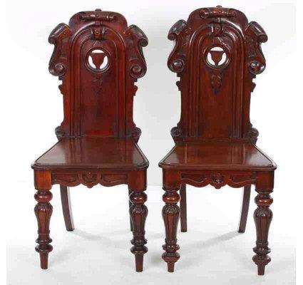 Chaises D Entree Antiques En Acajou Set De 2 En 2020 Entree Antique Chaises Antiques Chaise