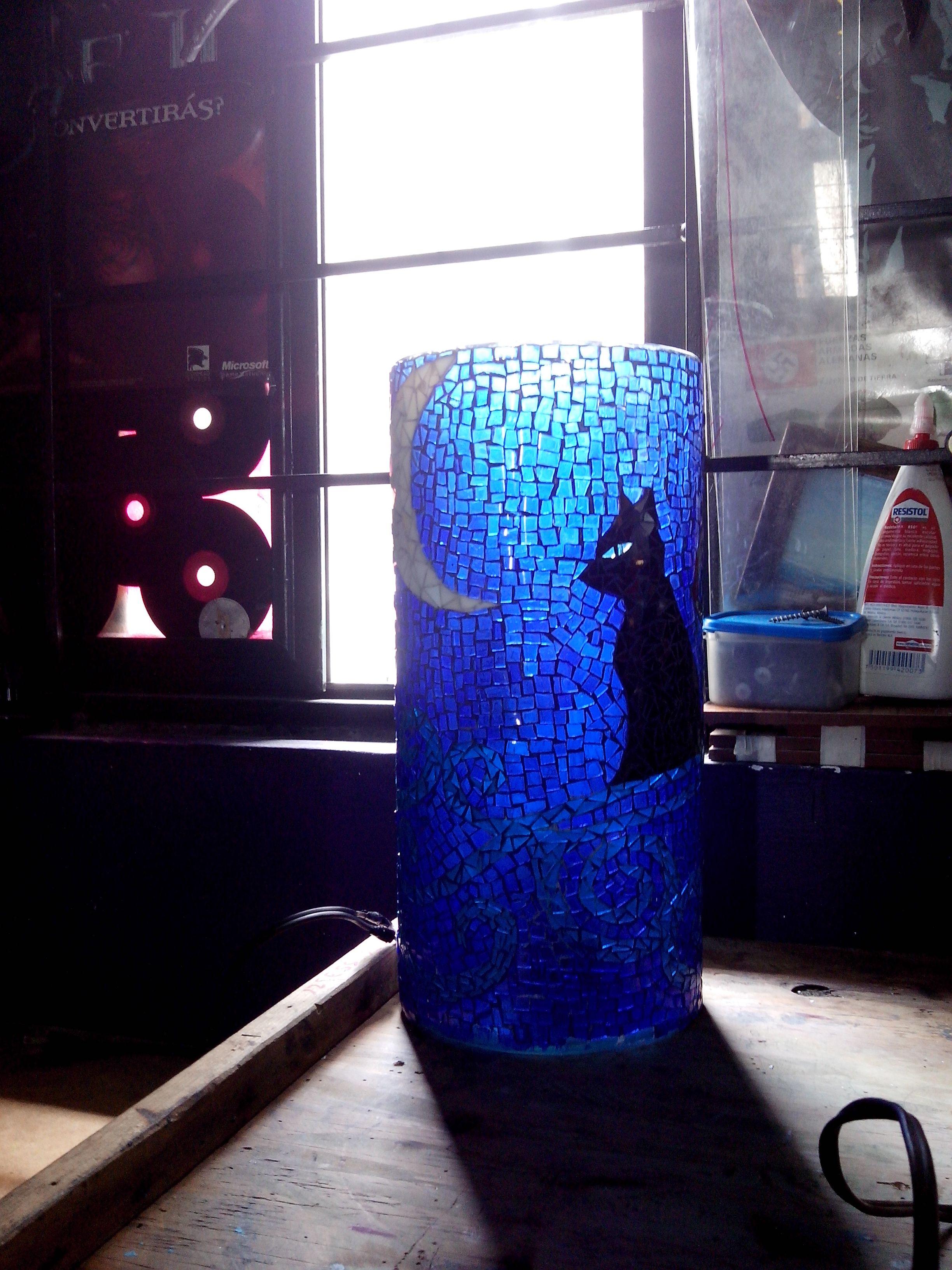 vitro mosaico florero o lámpara para que te gusta