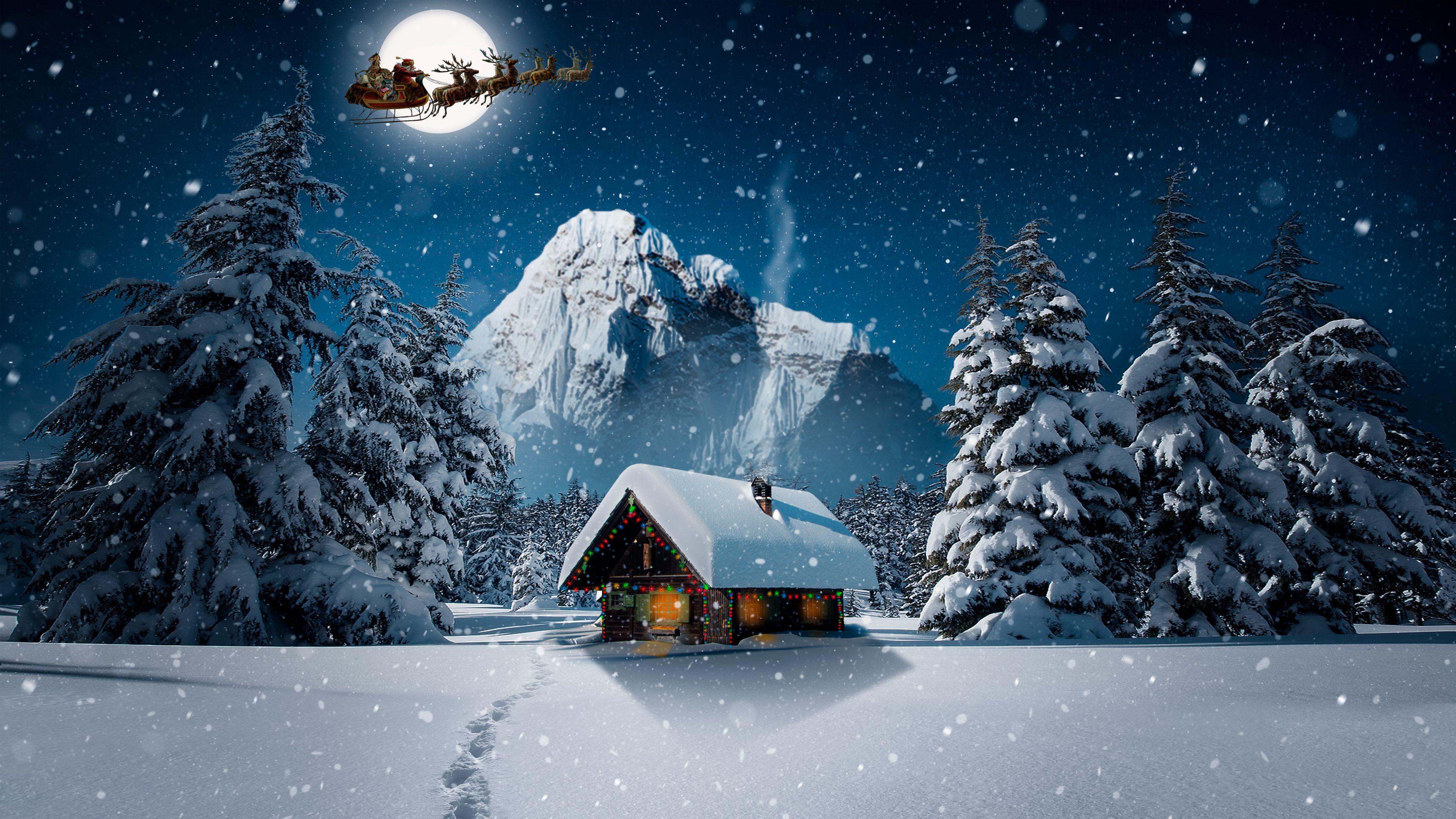 Christmas Winter 4k Wallpaper Christmas Wallpaper Nature Wallpaper