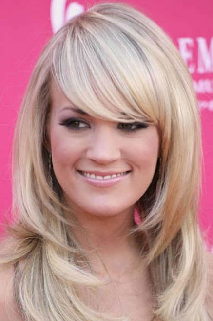 Long Layered Hairstyles With Bangs For Round Faces Medium Hair Styles Long Hair With Bangs Haircuts For Long Hair