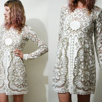 70's lace babydoll dress