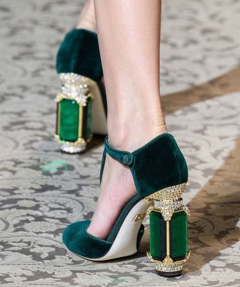 styled-by-carakerr: Dolce & Gabbana crystal heels.