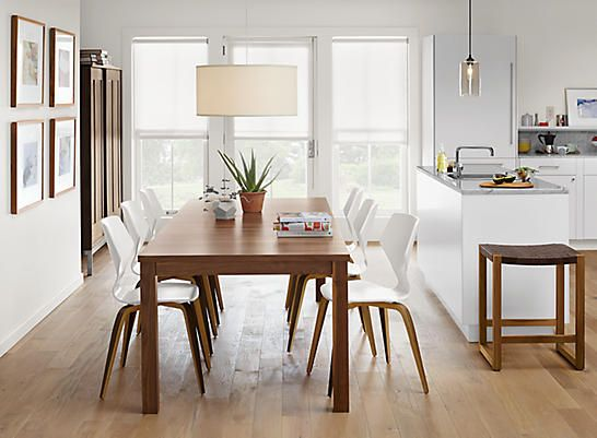Andover Walnut Table with Pike Chairs - Dining - Room & Board