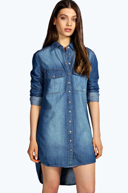 f11c8840a6 Keelie Longline Denim Shirt Dress