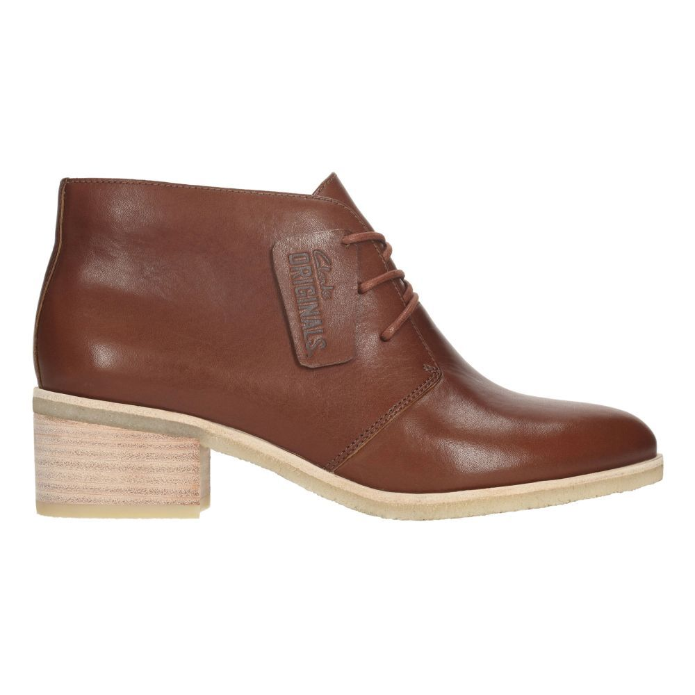 Womens Originals Boots - Phenia Carnaby in Tan Leather from Clarks shoes