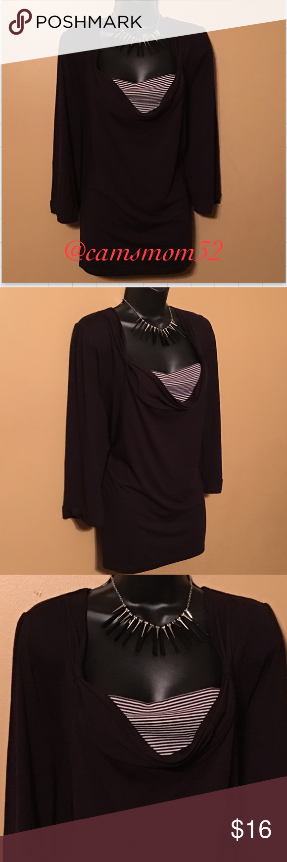 Cato long sleeve black top Like new condition, size 26/28. Bundle more items and save. Cato Tops
