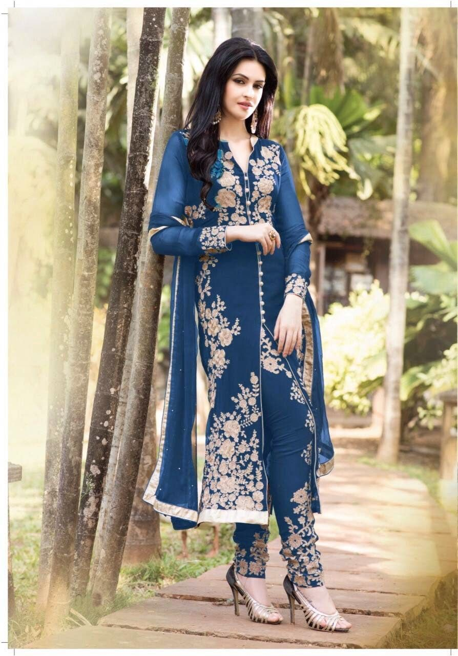 Attractive Blue Faux Georgette Party Wear Salwer Kameez    http://www.designersareesuite.com/catalog/product/view/id/20889/s/attractive-blue-faux-georgette-party-wear-salwer-kameez/category/40/#