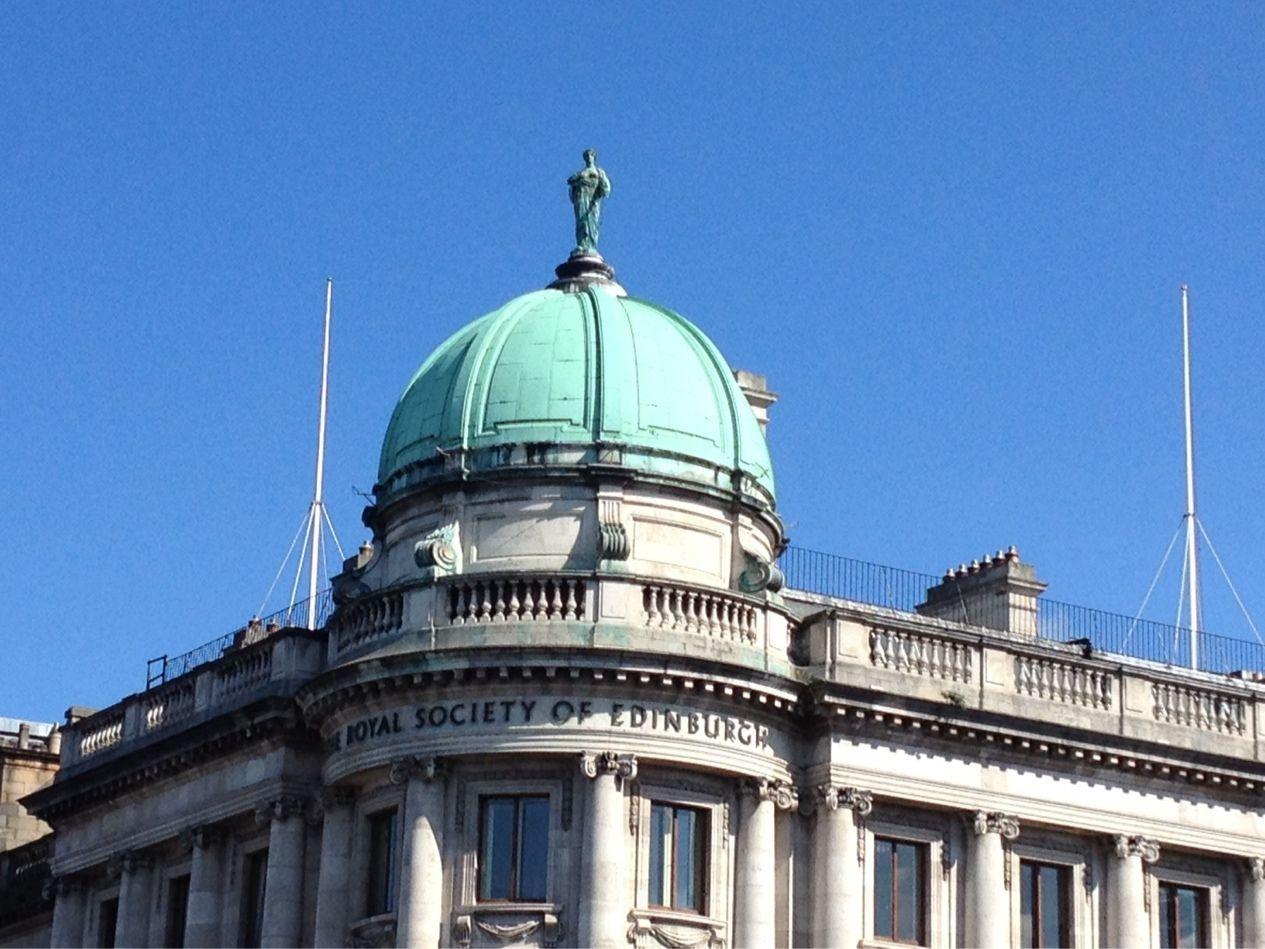 Lovely blue skies in Edinburgh today