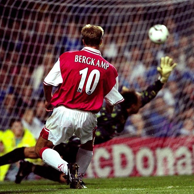 #OnThisDay in 1997... @officialdennisbergkamp scored one of the greatest hat-tricks of all time. #Arsenal #Bergkamp #IceMan #GOAT  by arsenal