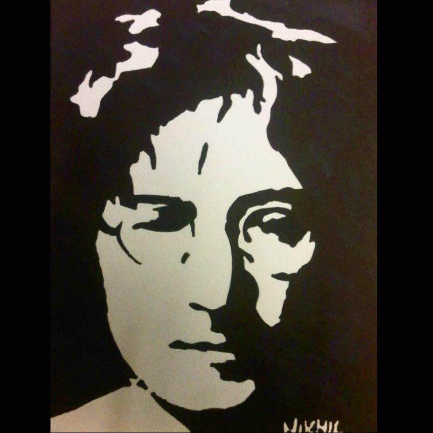 Motivo John Lennon Love 110x145 silberalu POPART//immagine//Dipinto//STREETART//Loft