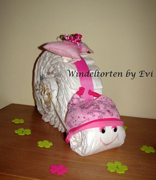 diaper snail windeltorte 39 zuckerschnecke 39 von. Black Bedroom Furniture Sets. Home Design Ideas