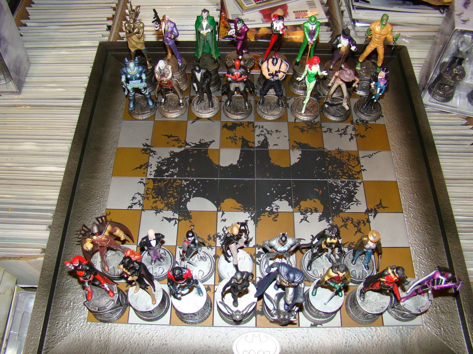 DC Batman Chess Collection By Eaglemoss! COMPLETE 35 pc ...