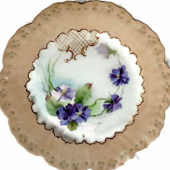 Vintage Limoges W G Co France Plate by EclecticVintager on Etsy, $10.00