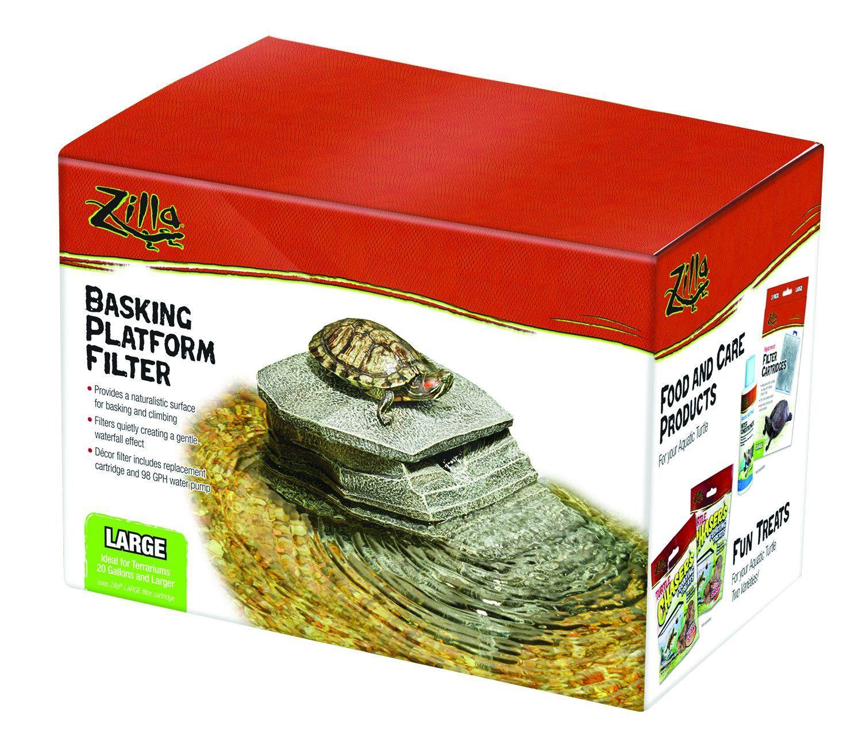 Zilla reptile basking platform filter size large gardens