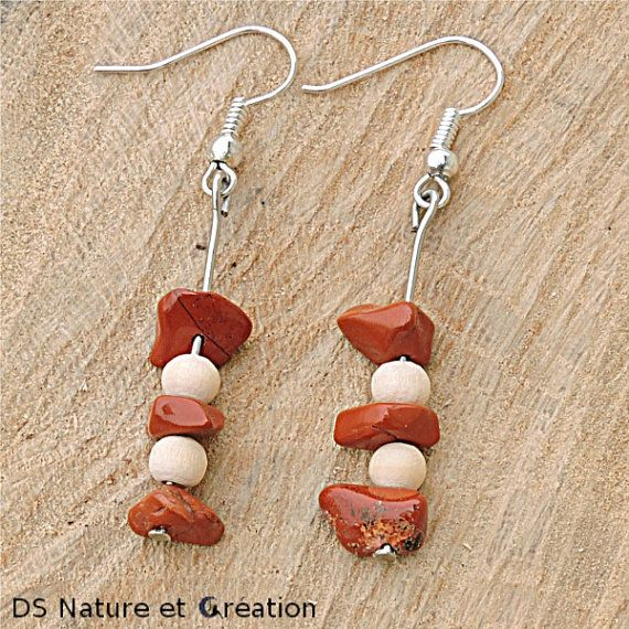 Ethnic jewelry ethnic earrings red jasperby DS Nature et Creation www.etsy.com/shop/DSNatureetCreation