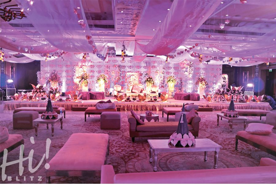 Lotus theme - create an inviting atmosphere with shades of purple.