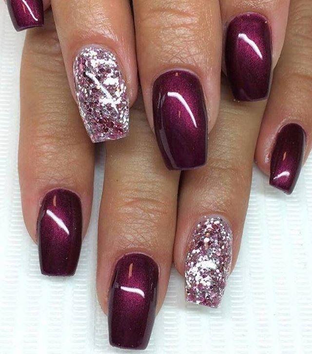Perfect Match Dark And Bright Nail Polish Ideas Naildesigns Burgundynails Pinterest Nails