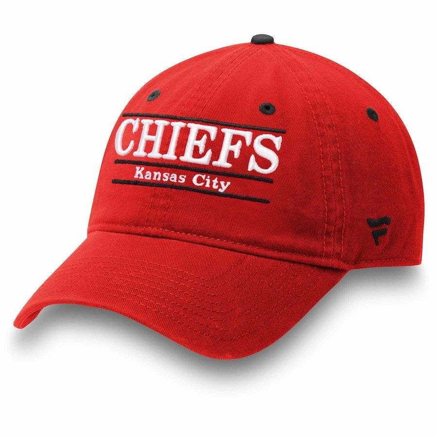 Men s Kansas City Chiefs NFL Pro Line by Fanatics Branded Red Primary Bar  Adjustable Hat d7ce98d41