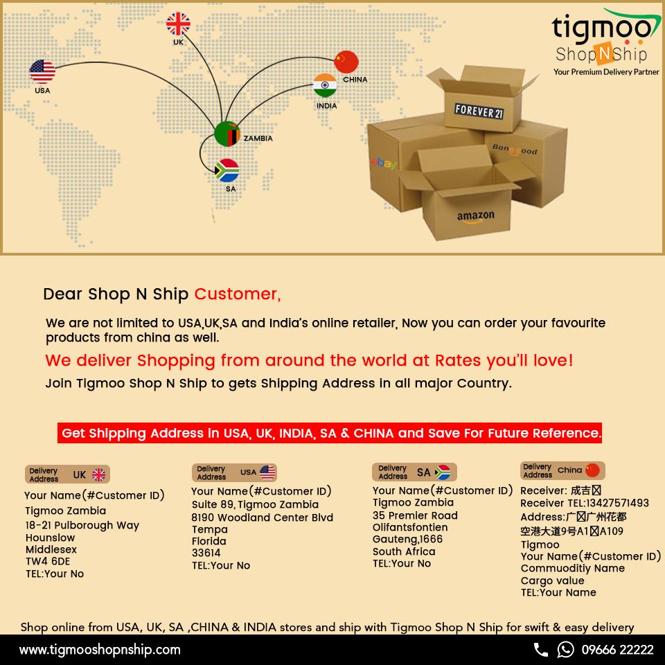 Now No More Struggle Tigmoo Shop N ship deliver shopping