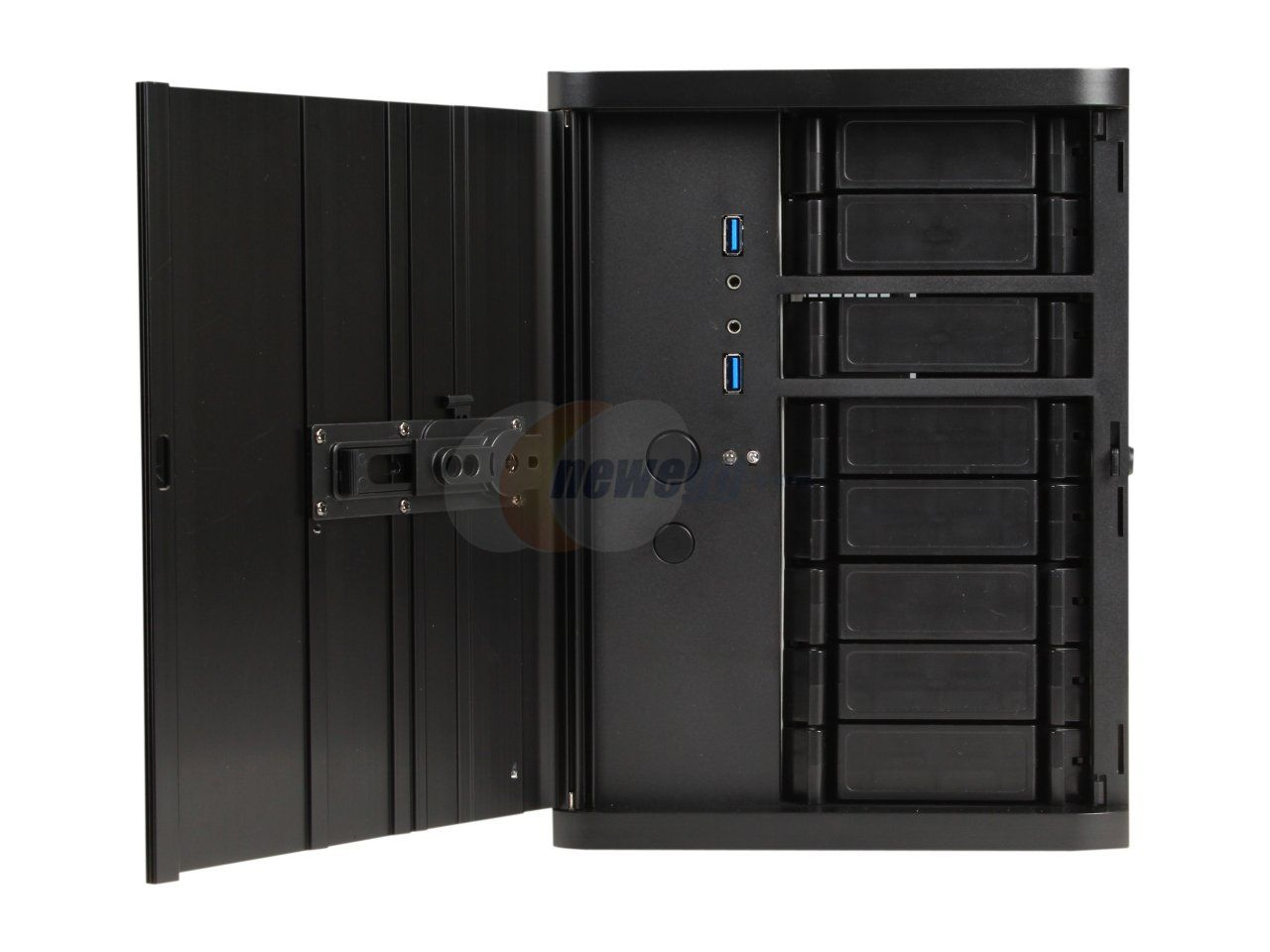 SilverStone DS380B Black Aluminum front door, SECC body NAS chassis Premium 8-bay Small Form Factor NAS Chassis SFX PSU (sold separately) Power Supply - Newegg.com