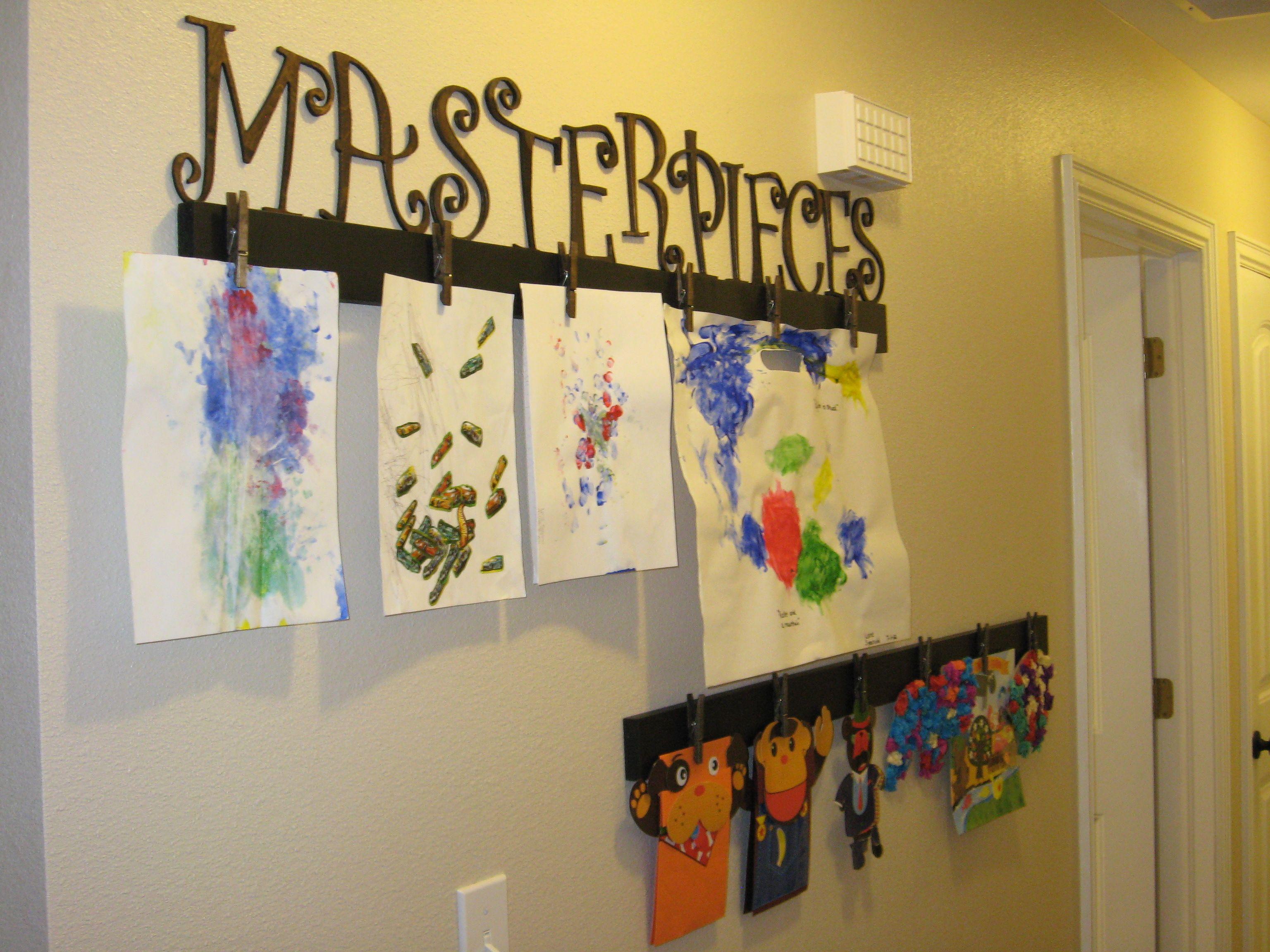 Artwork Display | For My Crafty Kids | Pinterest | Artwork display ...