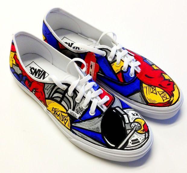 RedBull Stratos Custom Shoes by Timmy Ham aka Sloth