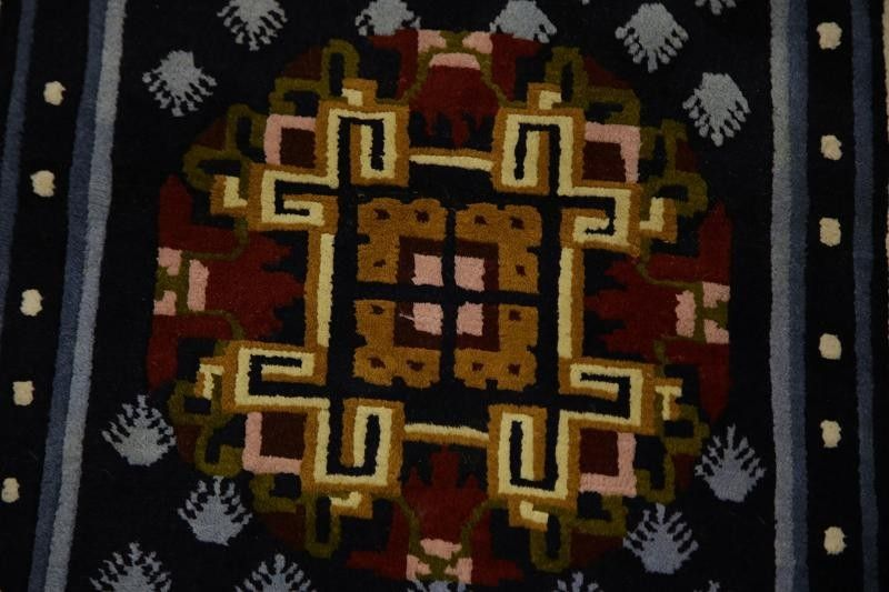 3x6 Art Deco Chinese Oriental Area Rug