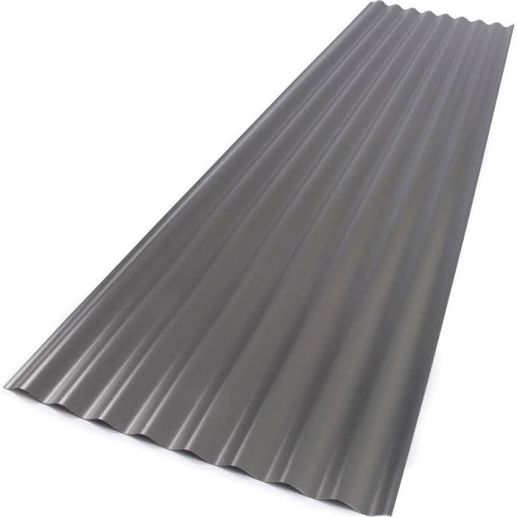 26 In X 8 Ft Foamed Polycarbonate Corrugated Roof Panel In Castle Grey Castle Gray Roof Panels Corrugated Roofing Polycarbonate Roof Panels