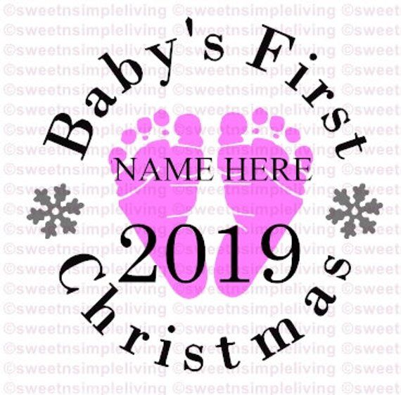Babys First Christmas Svg