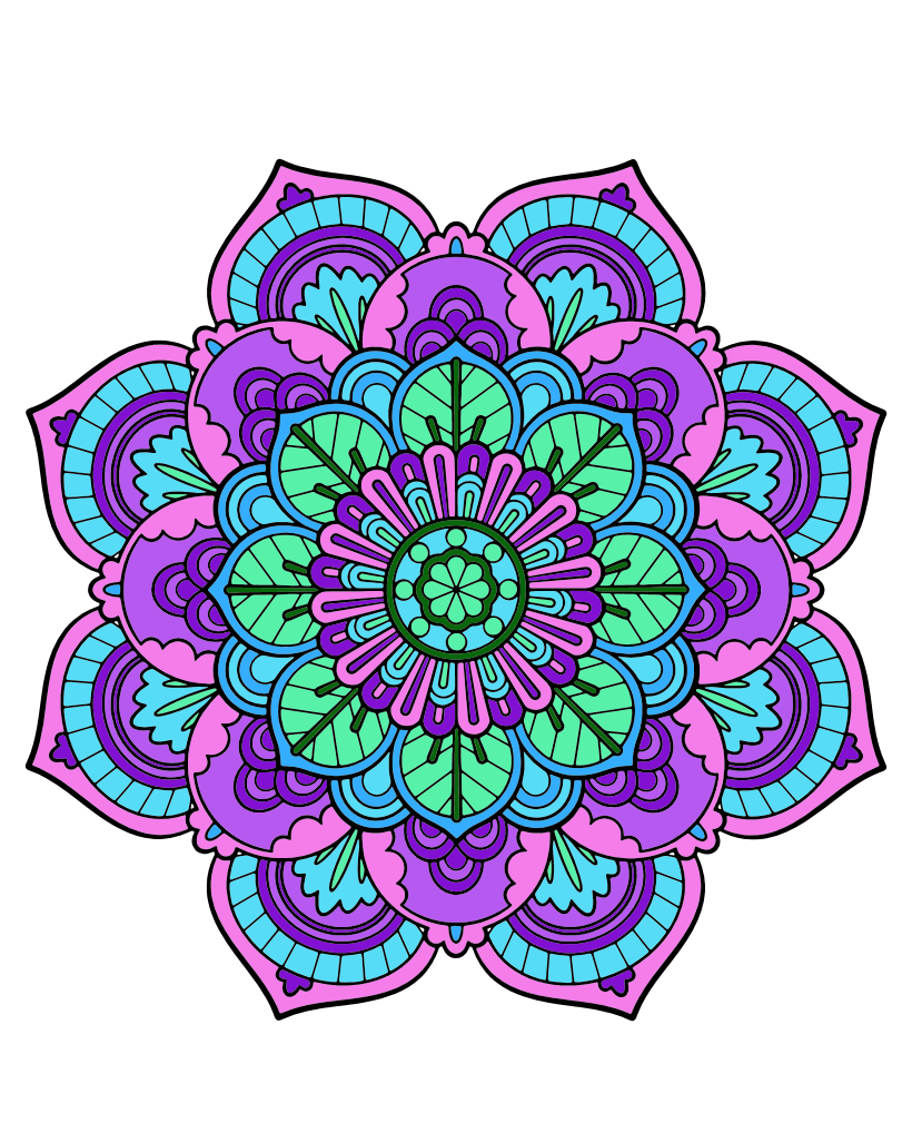 Green Round Floral Mandala Women/'s Tee Image by Shutterstock