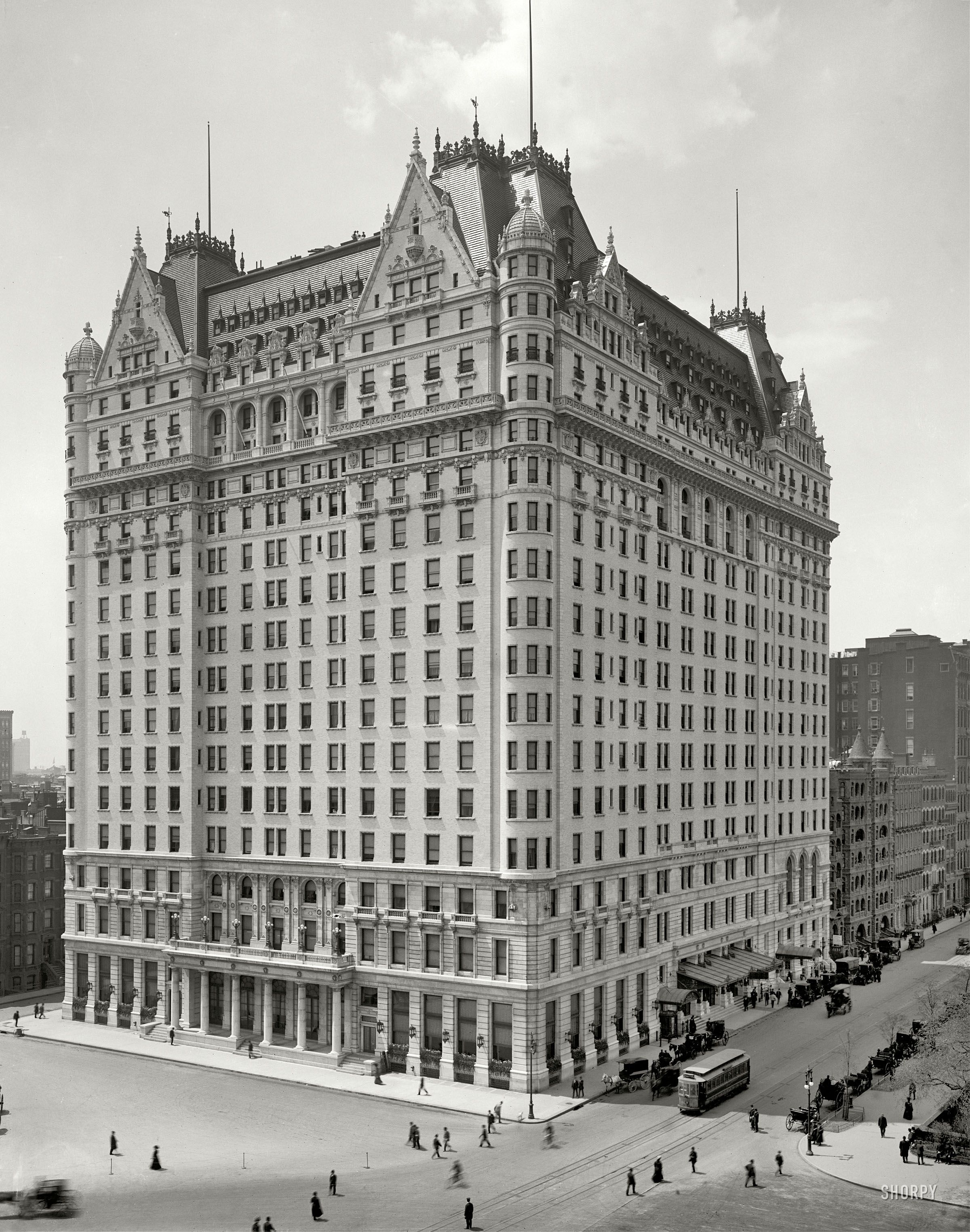 Plaza Hotel: 1910 | Shorpy Historic Photo Archive | New york ...