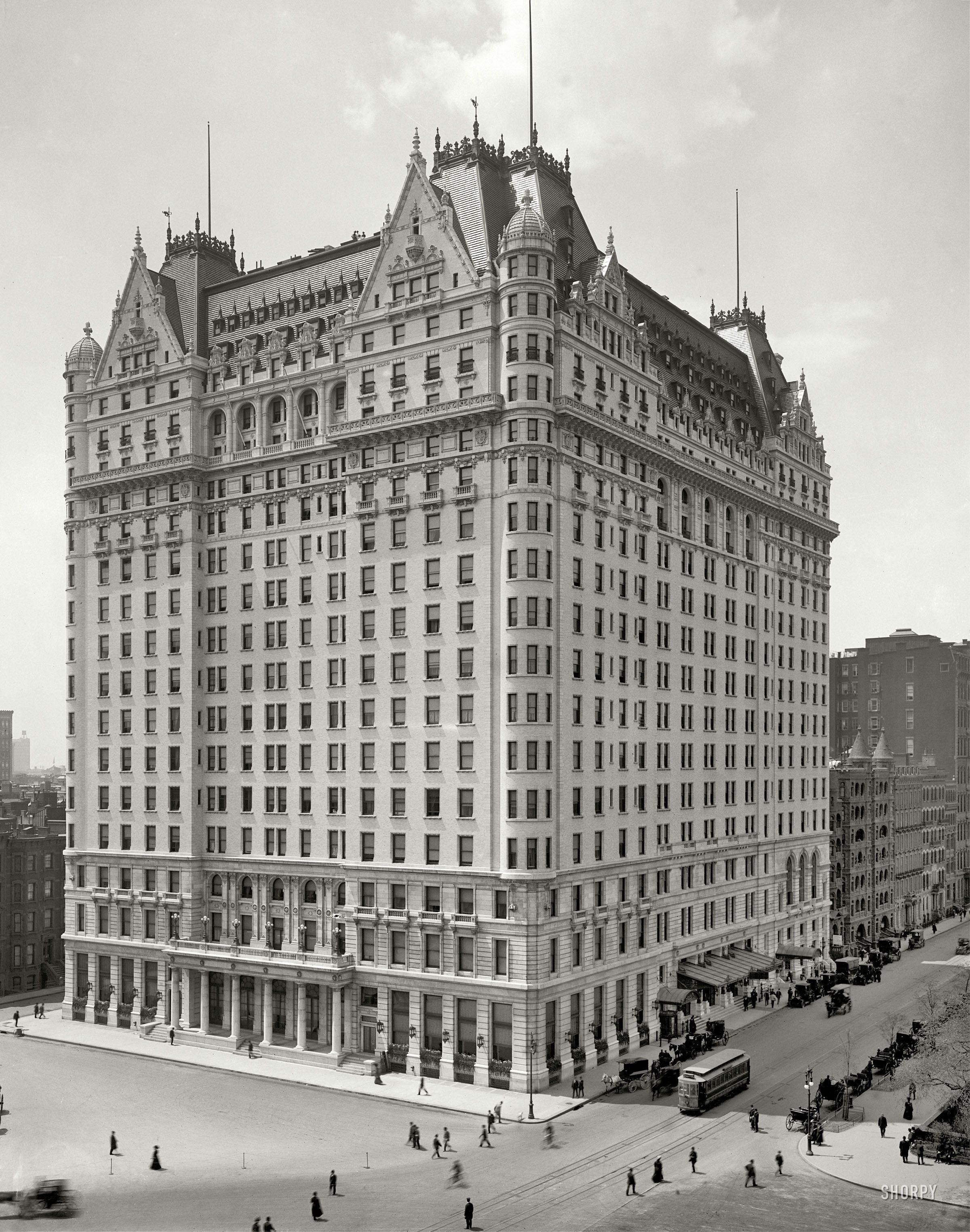 Plaza Hotel 1910 Shorpy Historic Photo Archive New