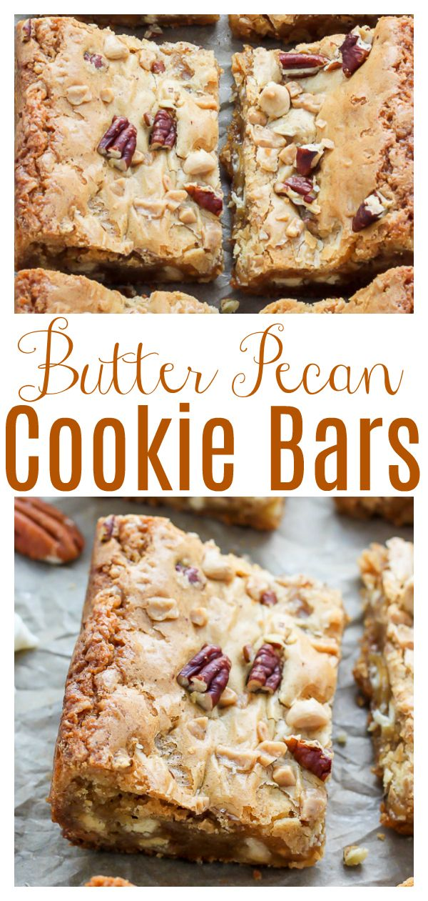 Photo of White Chocolate Butter Pecan Blondies – Baker by Nature