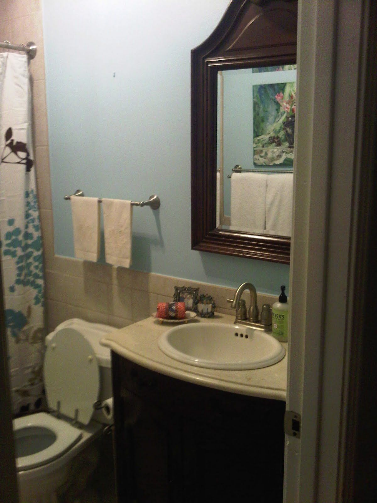 Small bathroom no window paint color google search for Small bathroom color schemes