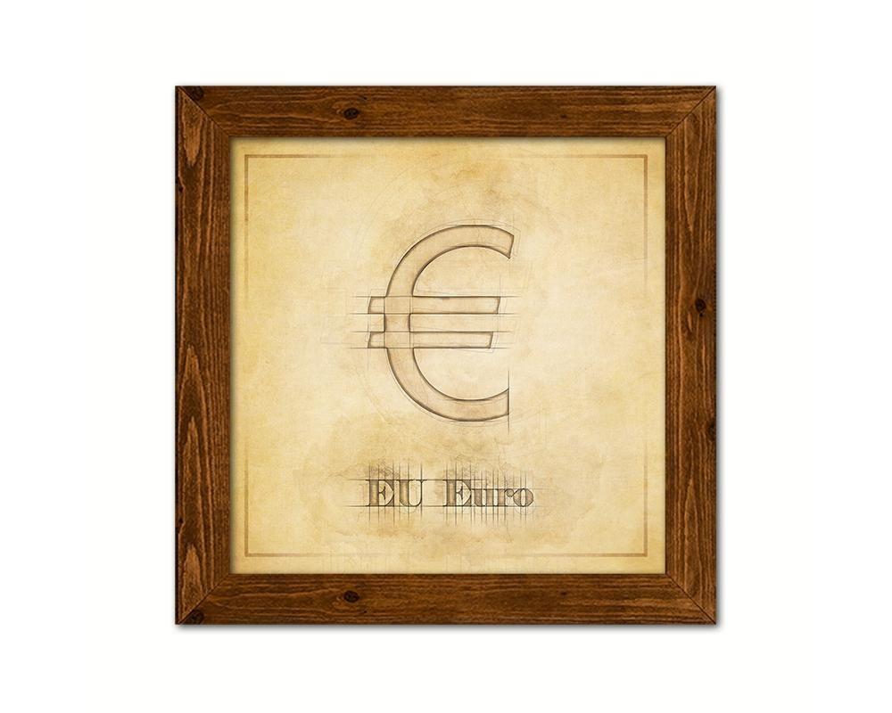 Europe Euro Money Symbol Printable Home Decor Girl\'s Bedroom Wall ...