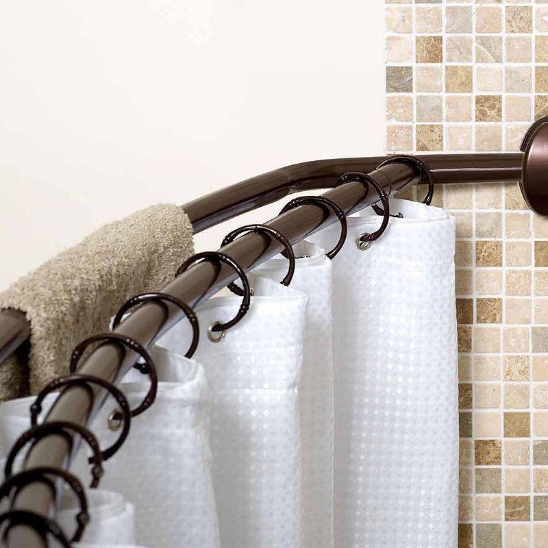 Zenna Home Shower Curtain Rod Rustic Bathrooms Shower Curtain