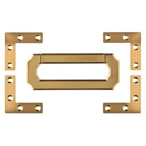 Everbilt 2 in  Satin Brass Flat Corner Brace (4-Pack) | Hardware