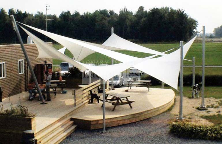 Velarias interior design pinterest terrazas for Lonas para jardin