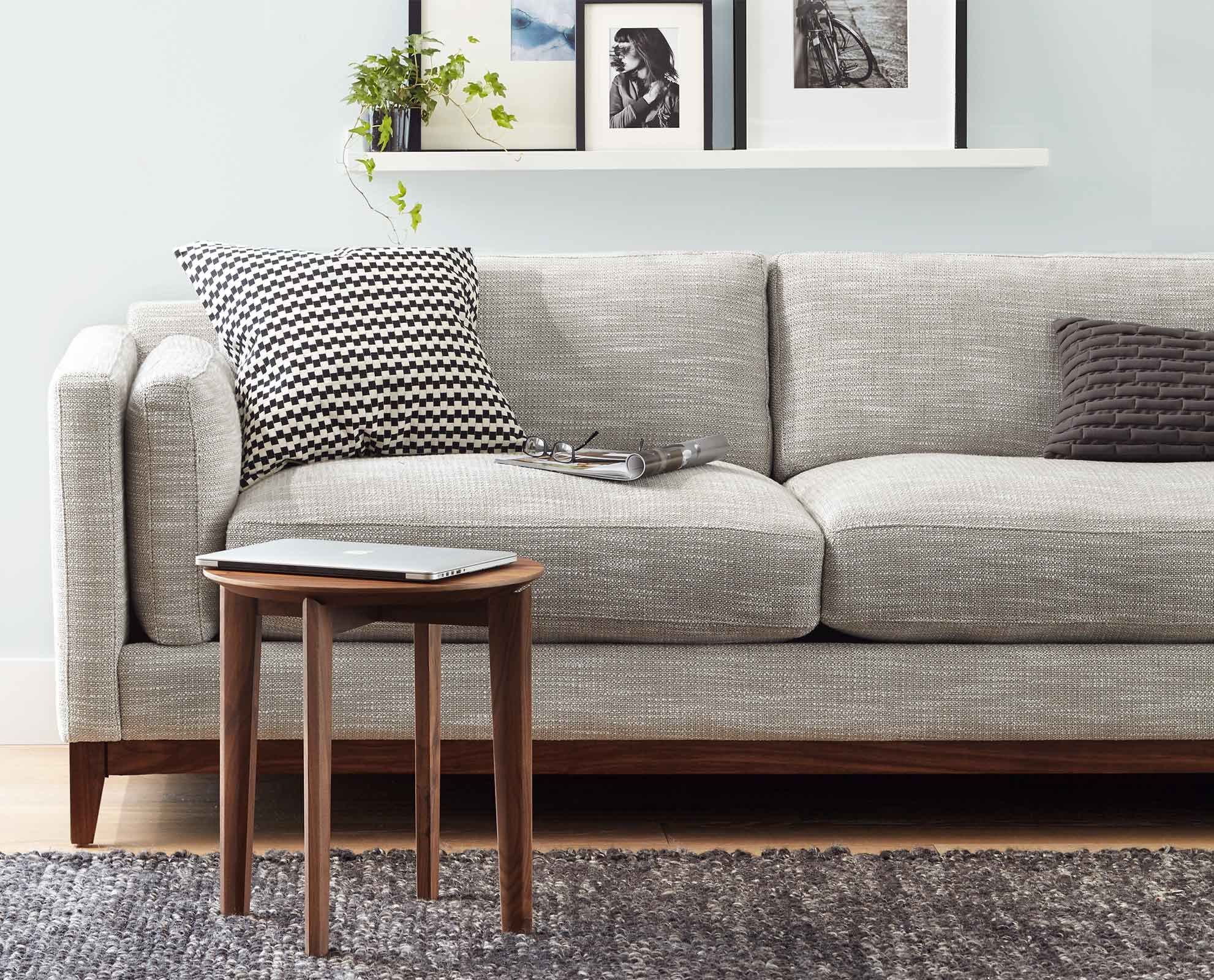 The Gabriel Sofa From Scandinavian Designs Shows Off Modern Angles With The Full Americ Scandinavian Sofa Design Scandinavian Furniture Design Couch Upholstery