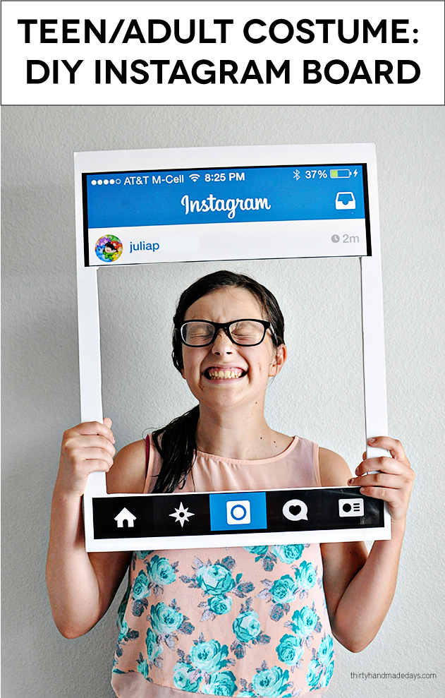 fun teenadult halloween costume diy instagram board - Easy Homemade Halloween Costumes For Teenage Girl