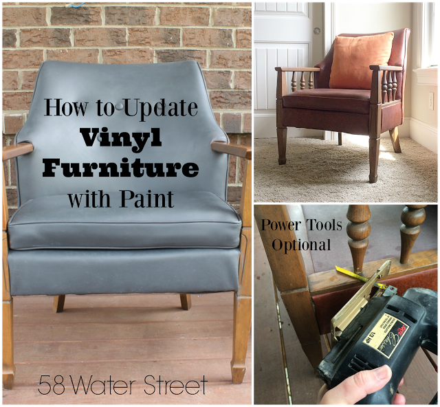 Where To Buy Paint For Leather Sofas: 58 Water Street: How To Update A Vintage Vinyl Chair With