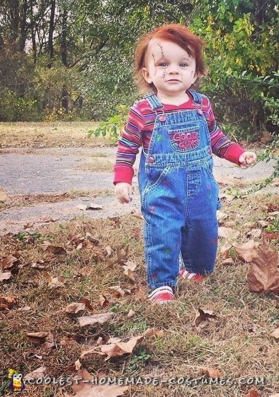 DIY Toddler Chucky Costume He will kill you With Cuteness  sc 1 st  Pinterest & DIY Toddler Chucky Costume: He will kill you With Cuteness ...