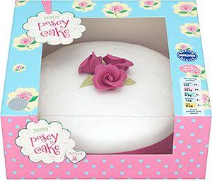 Tesco Posey Celebration Cake 18 Servings Madeira sponge cake