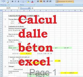 Calcul Dalle Beton Excel Dalle A Corps Creaux Dalle Beton Calcul Beton Calcul
