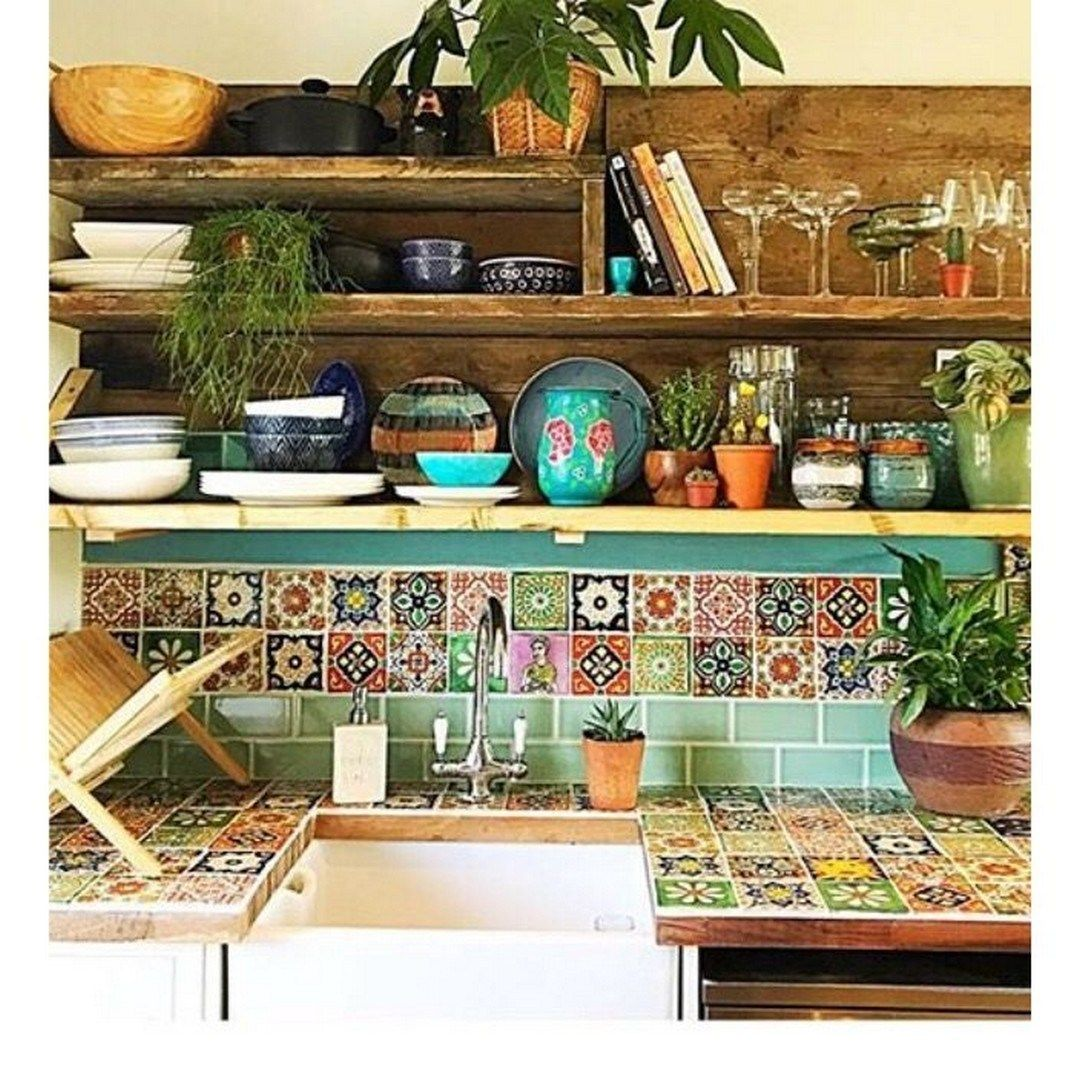 Colorful Kitchen Decorating With Mexican Style en 17