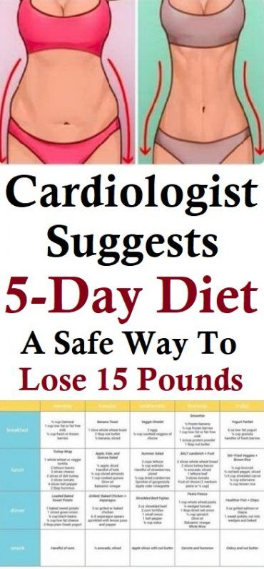 Cardiologist Suggests 5-Day Diet: A Safe Way To Lose 15 Pounds #diet