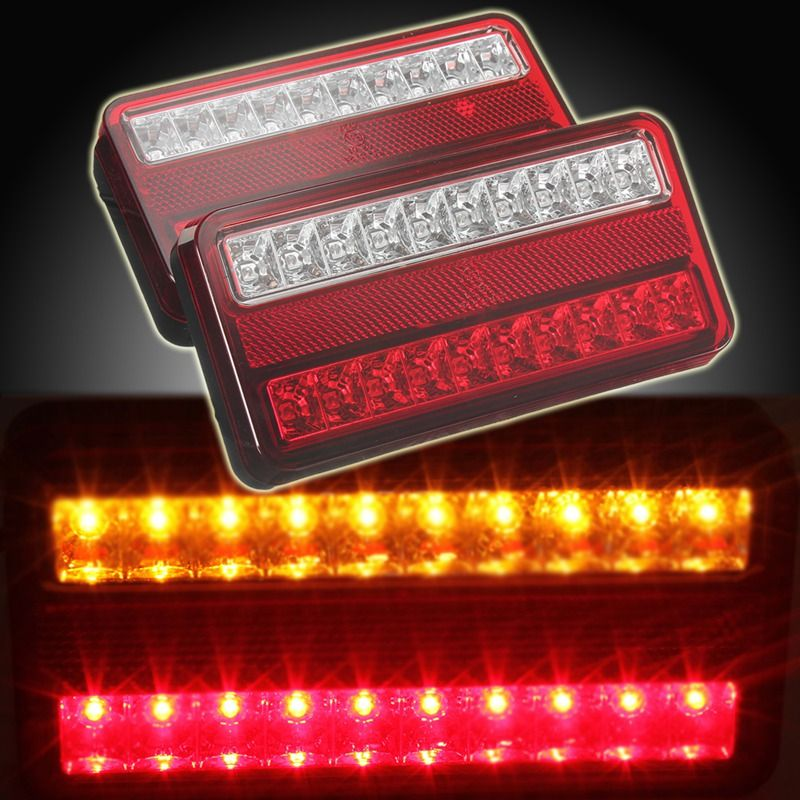 Free Shipping Buy Best New 2x 20 Led 12v Tail Light Car Truck Trailer Stop Rear Reverse Auto Turn Indicator Lamp Back U Car Lights Cars Trucks Tail Light